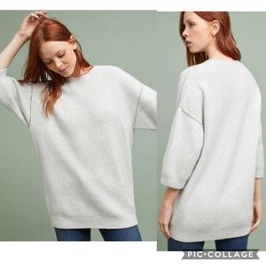 Anthropologie Moth Dempsey Pullover Wool Sweater